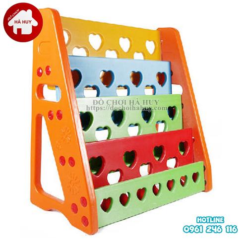 Giá phơi, Giá để đồ chơi, Kệ sách nhựa nhập khẩu cho bé mầm non