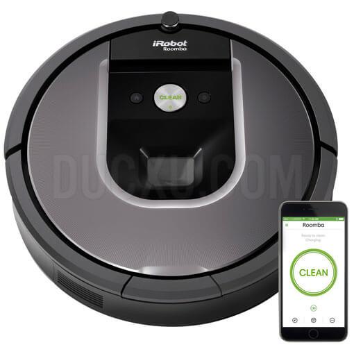 Robot hút bụi lau dọn nhà Irobot Roomba 960, App định vị bằng Camera