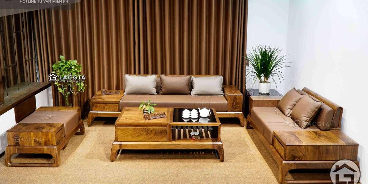 Lựa chọn Sofa gỗ ở đâu? Ưu điểm là gì