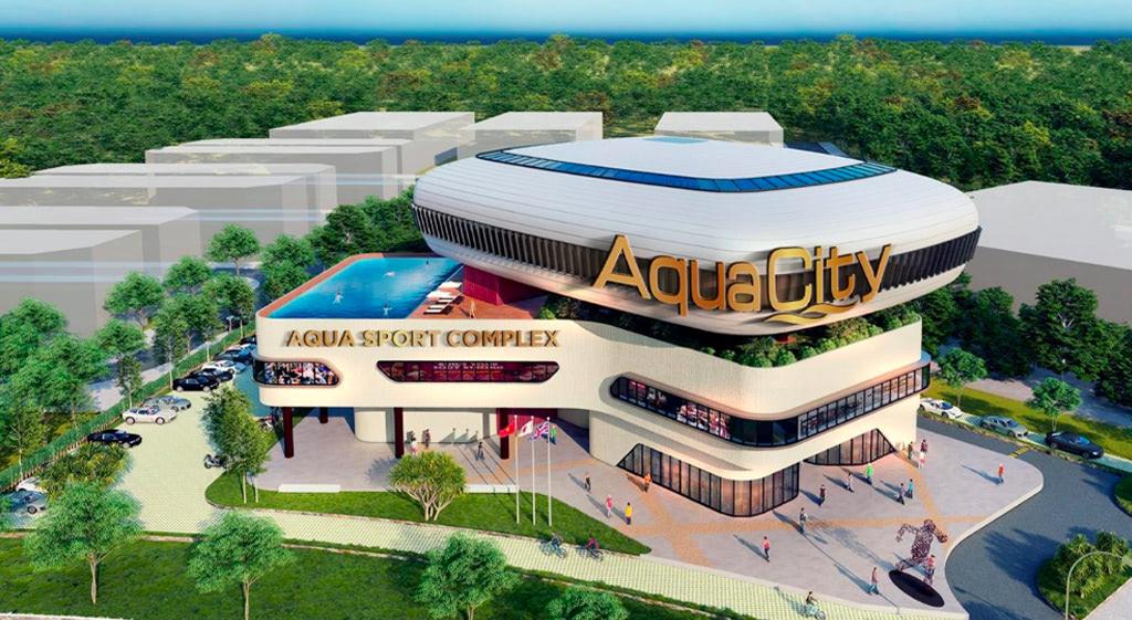 Khu thể thao đa năng rộng 2.2 ha của Aqua City