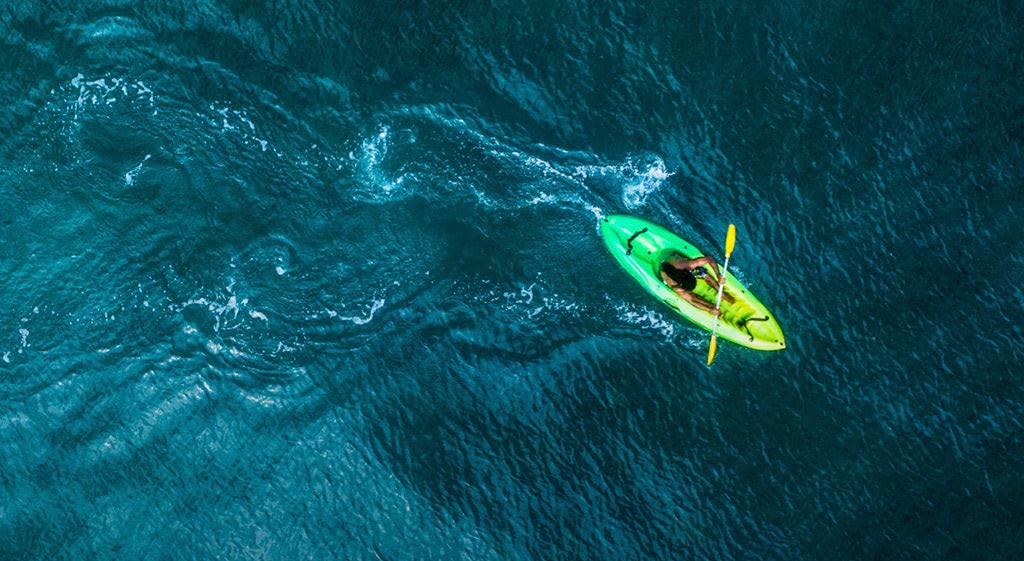 Thuyền Kayak là gì? Những tiện ích chỉ có tại Aqua City