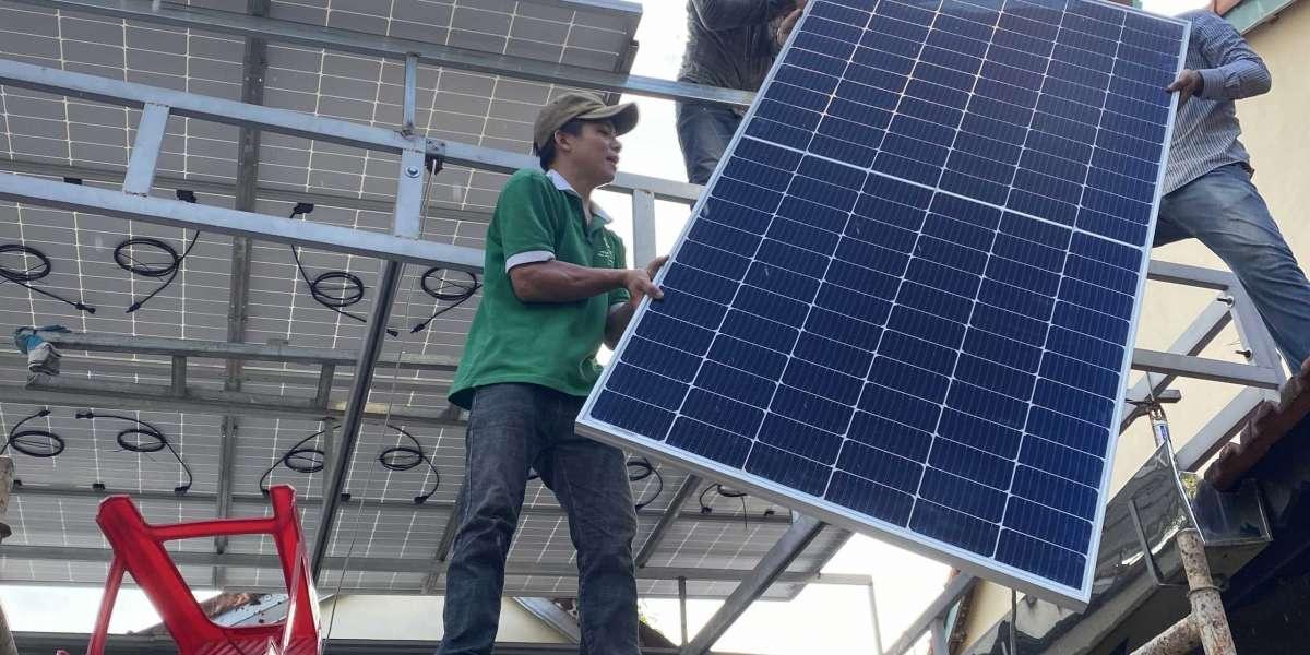 Hệ thống điện mặt trời tại Cẩm Phả Quảng Ninh