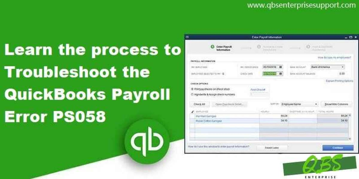 Fixation of QuickBooks Payroll Error PS058 (An Installation Failed Issue)