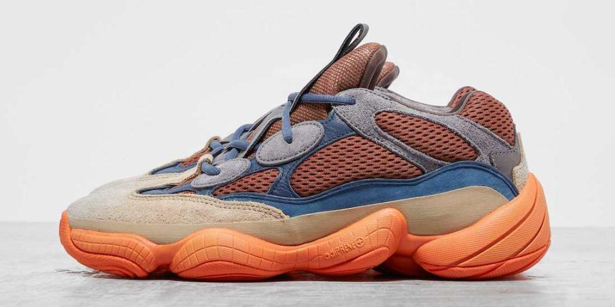 adidas Yeezy 500 Enflame Surfaces in Brown and Orange