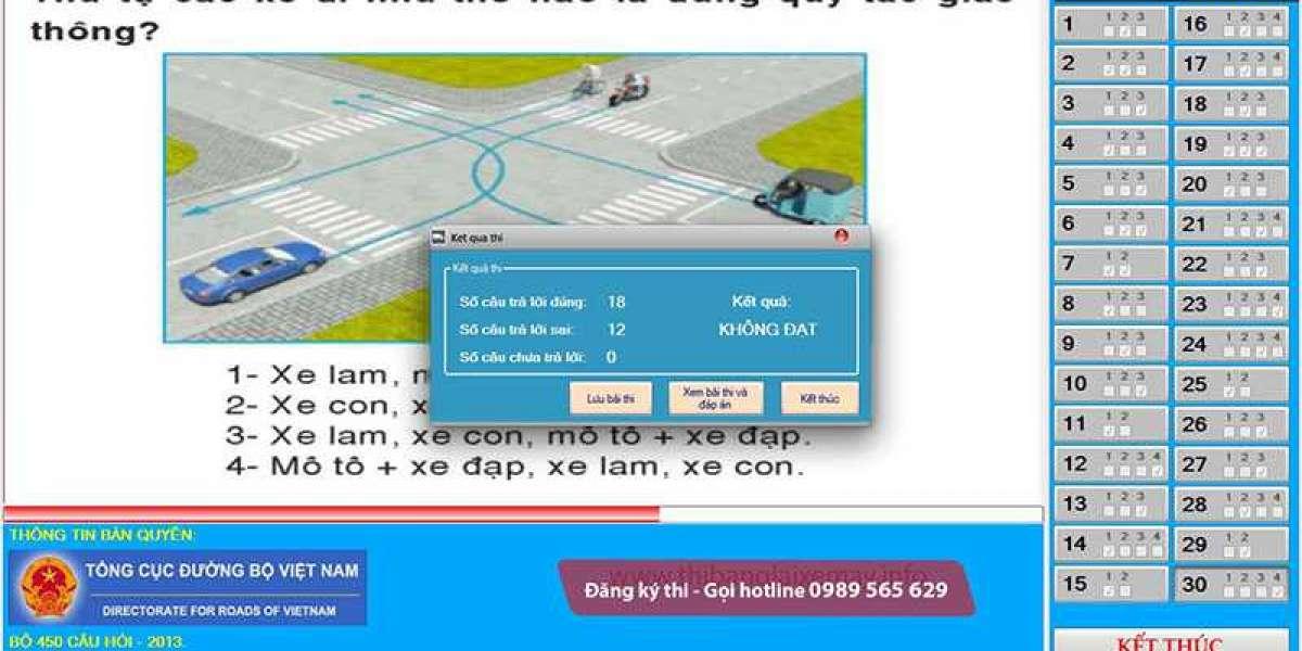 Hướng dẫn thi thử lý thuyết bằng lái xe B2 600 câu mới nhất 2021