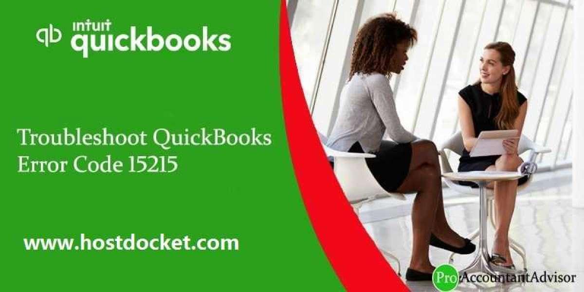How to Troubleshoot QuickBooks Error Code 15215?