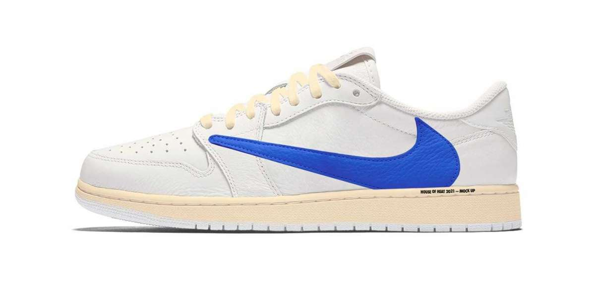 "Latest Air Jordan 1 Low ""White/Blue/Sail"" Basketball Sneakers"